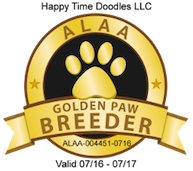 ALAA Golden Paw Breeder Award for Labradoodles