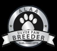 ALAA Silver Paw Breeder Award for Australian Labradoodles