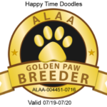 Happy Time Doodles ALAA Golden Paw Logo